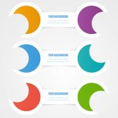 Vector abstract circles template. Object design — Stockvektor
