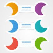 Vector abstract circles template. Object design — 图库矢量图片