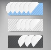 Vector banners lines. Color web design — Stock Vector