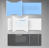 Vector design element. 3d set banners. — Stock Vector