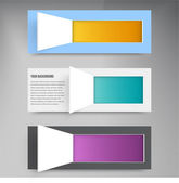 Vector background squares. Set web design — Stockvector