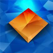 Vector 3d banners and squares. Design — Vettoriale Stock