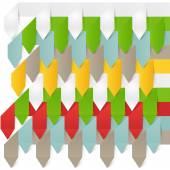 De moderne zakenwereld origami stijl opties banner. — Stockvector