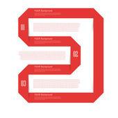 Moderní origami styl možností nápis. — Stock vektor