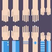 Business hands gestures design elements. isolated — Stock Vector