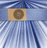Vector blue jeans background.  folds background — Vector de stock