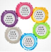 Set of color circles. — Stock Vector