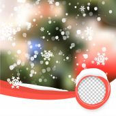 Vector Winter Christmas Blurred Glow Snowflakes. — Vector de stock