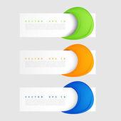 Vector banners set. Modern spiral banner. — Stock Vector