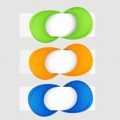 Vector banners set. Modern spiral banner. — Vector de stock