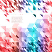 Vector background abstract polygon triangle. — Stockvektor