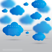 Vector background abstract blue cloud. — Stockvektor