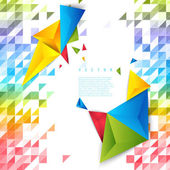 Vector background abstract polygon triangle. — Vector de stock