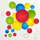 Vector Abstract geometric shape from circles. — Stok Vektör