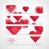 Vector Valentine Hearts Background. — Stock Vector