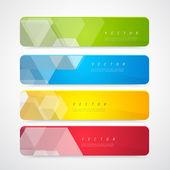 Flyer template header design. — Stock Vector
