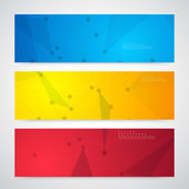 Vector network background abstract polygon triangle. — Stock Vector