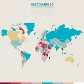 Vector abstracte telecommunicatie Earth-kaart. — Stockvector