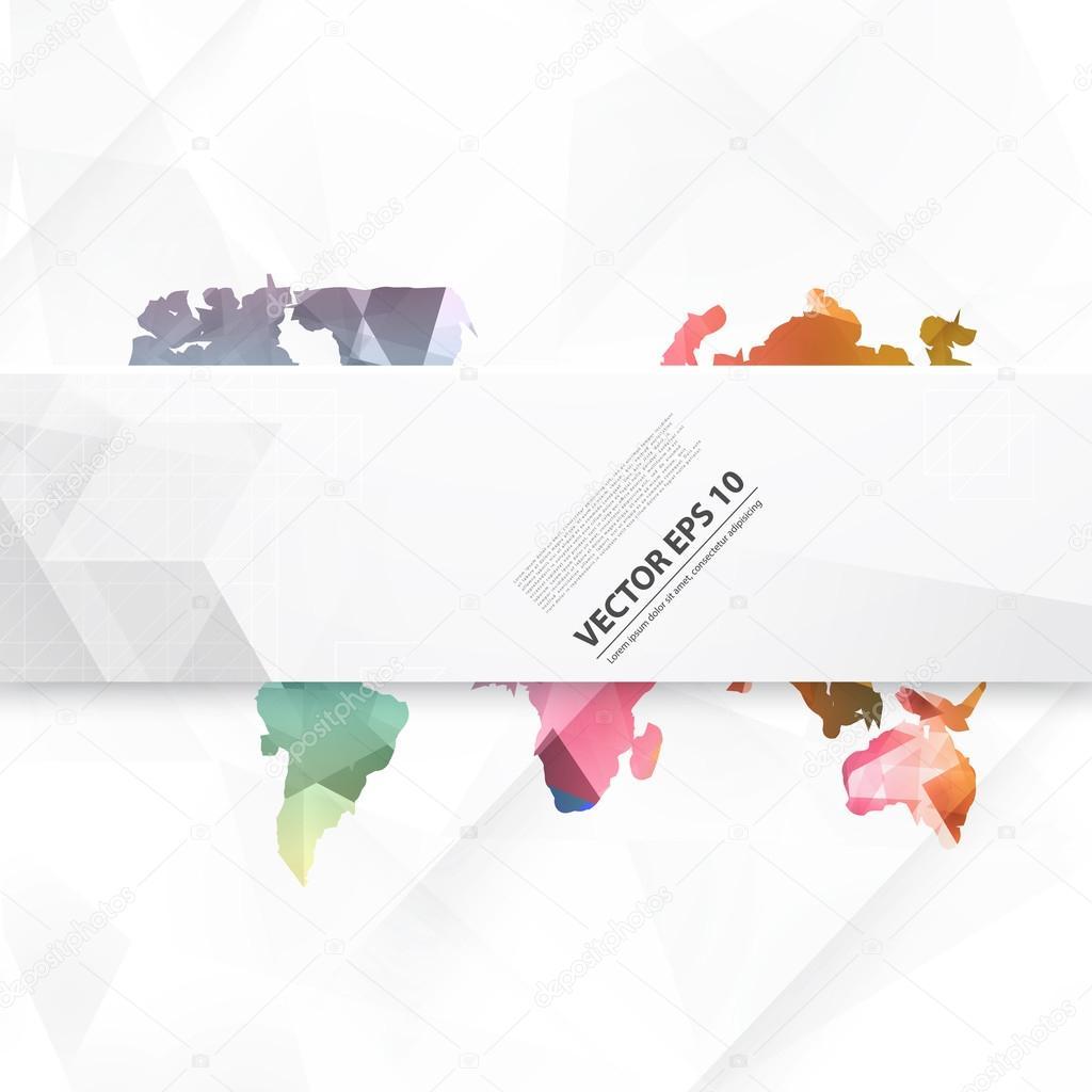 矢量抽象电信地球地图.世界地图连接图– 图库插图