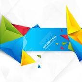 矢量彩色背景抽象多边形三角形. — 图库矢量图片