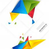 Vector color background abstract polygon triangle. — Stock Vector