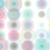 Vector Abstract Drawn Colorful Circles Background. — Stock Vector
