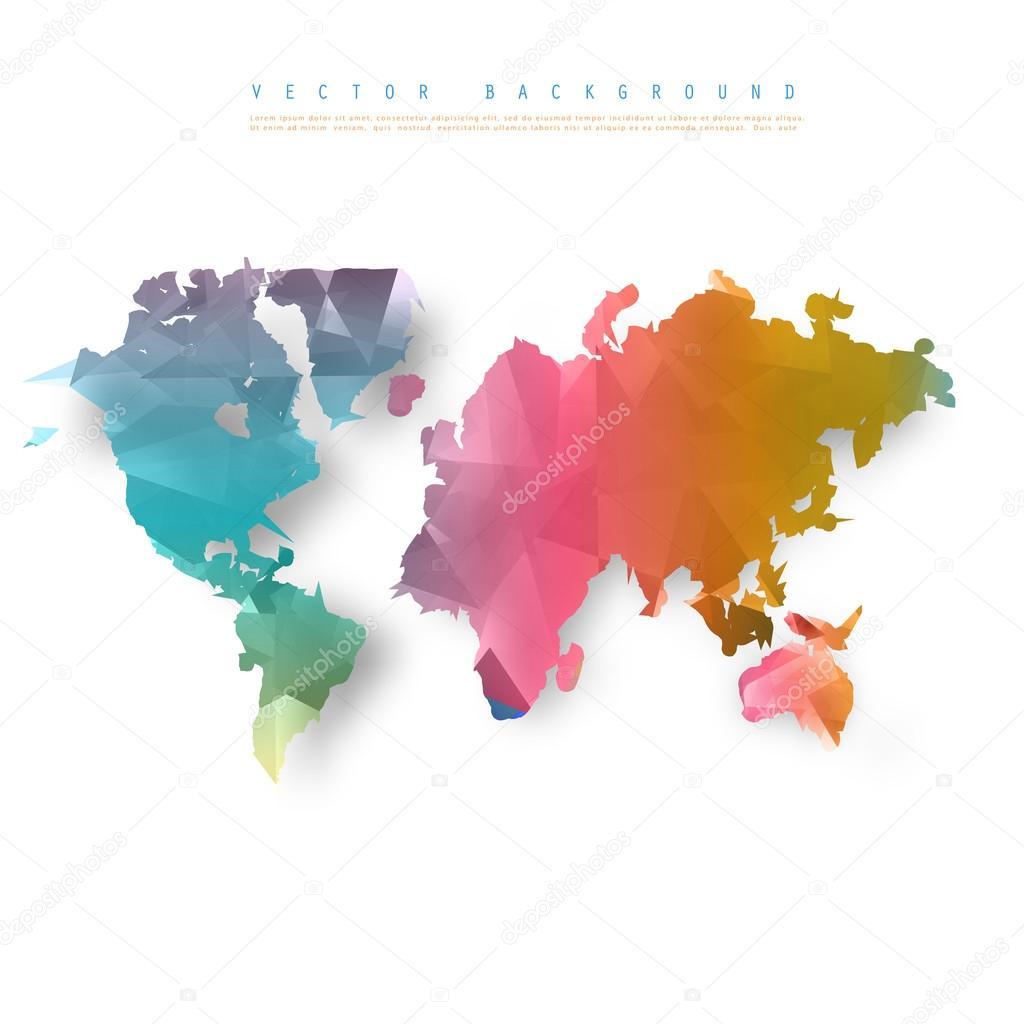 矢量抽象电信地球地图.世界地图连接图–