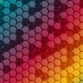 Vector Abstract hexagon shape design template. — Stock Vector