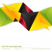 Vector background abstract polygon triangles. — Stock Vector