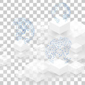 Vector background abstract squares. — ストックベクタ