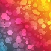 Resumen de vectores de color hexagonal 3d — Vector de stock