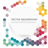 Vector abstract color 3d hexagonal — Stock Vector