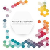 Vector abstract color 3d hexagonal — Stock Vector