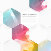 Vector abstract color 3d hexagonal. — Stock Vector