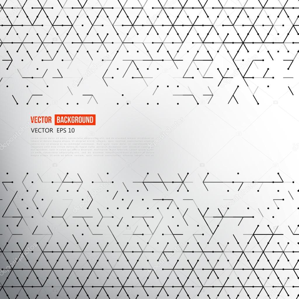 矢量背景线和三角形矢量图