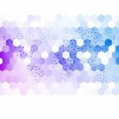 Vector abstract 3d hexagonal. — Stock Vector