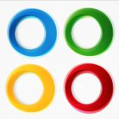 Set of round colorful vector shapes. — Stock Vector