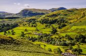 Glenridding seen from slopes of Sheffield Pike — Stock Photo