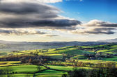 Rolling English countryside in Cumbria. — Stock Photo