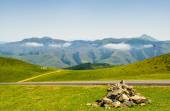 Grazing meadows in the French Pyrenees — Stock Photo