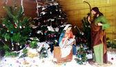 Christmas Manger scene — Stock Photo