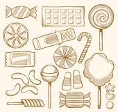 Candy, Sweets, Confectionery — Vector de stock