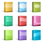 Software Boxes, Ebook Cover Designs — Stockvektor