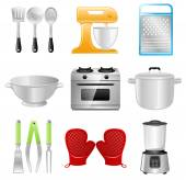 Kitchen Utensils, Cooking, Restaurant — Vector de stock