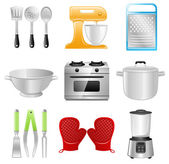 Kitchen Utensils, Cooking, Restaurant — Cтоковый вектор