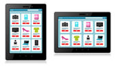 Tablet, Mobile Device, Online Shopping — Stockvector