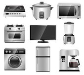 Home Appliances, Household Equipments — Vector de stock