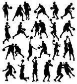 Basketball, Sport, Athlete, Silhouette — Stockvector