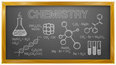 Chemistry, Science, Chemical Elements, Blackboard — Cтоковый вектор