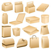 Packaging Boxes, Product Containers, Business — Stockvector